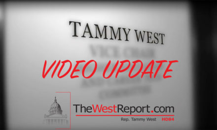 Rep. Tammy West Video Update March 10, 2017