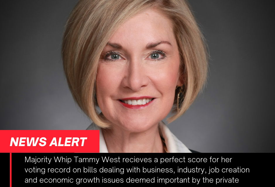 Majority Whip Tammy West receives a perfect score from The Reid Report